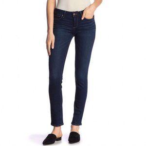 Paige Skyline Skinny Dark Wash Mid Rise Jeans